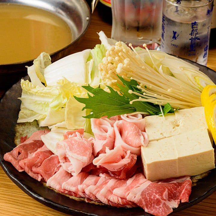飲放付!豚しゃぶを満喫3,500円~