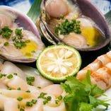 「海鮮三種盛り合わせ」