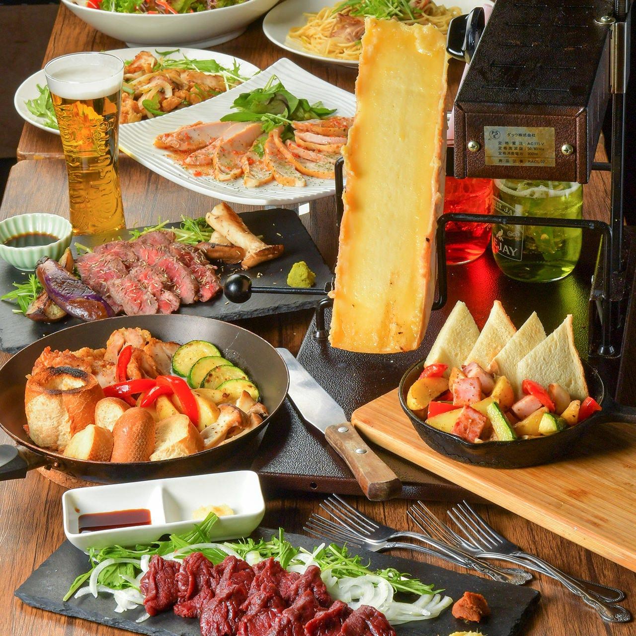 当店自慢の肉とチーズの贅沢コースで豊かなひとときをぜひ