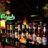 世界各国の個性派ビールがずらり