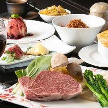【神戸牛×須磨】特選フィレステーキ&特選牛肉刺身付◎ デート/記念日/誕生日/大切な日のご利用に♪