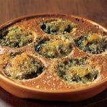 つぶ貝のガーリックバター焼