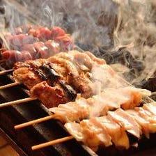 熟練技で焼き上げる絶品串焼き