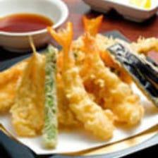 【飲み放題付】江戸前天ぷら盛合せとステーキが楽しめる 込み込み5000円(税込)プラン全7品