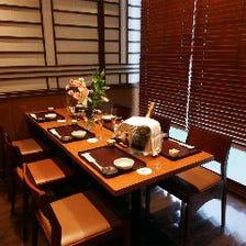■4名様〜6名様用の完全個室完備