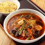 半炒飯と日替わり麺セット