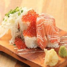 「陣」特製!こぼれ寿司
