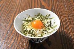 卵かけごはん タレ or 醤油 or わさび醤油