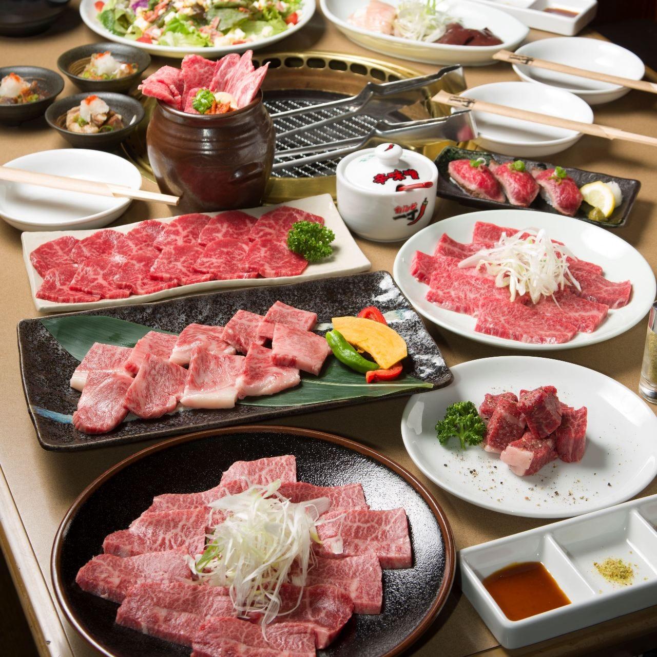 ◆熊野牛・特撰コース◆ 熊野牛や上質な国産牛を堪能できます。