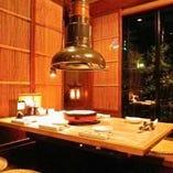床暖房完備の30名様までご利用いただけるお座敷個室!