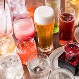 【お飲み物】 ビール、カクテル、梅酒など多彩なラインナップ