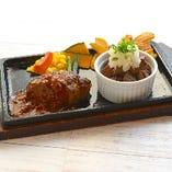 ハンバーグ&牛フィレカットステーキ(昼・夜提供)