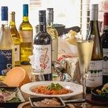 生産者さんの食材を惹き立たせるようなイタリアワインが楽しめる