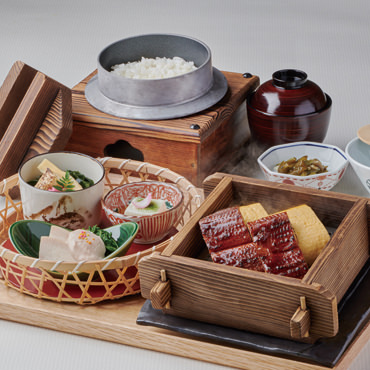 うな玉せいろ蒸し副菜セット1749円(税込)