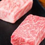 肉好きにはたまらない!贅沢な和牛赤身と霜降りを盛り合わせで!