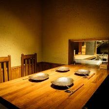 接待やお祝いに最適な完全個室席
