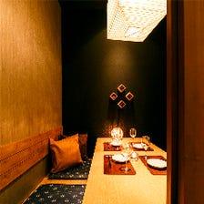 「心温まる明かり灯る少人数個室」優しいもし出す、独特な雰囲気がお客様を包み込みます。