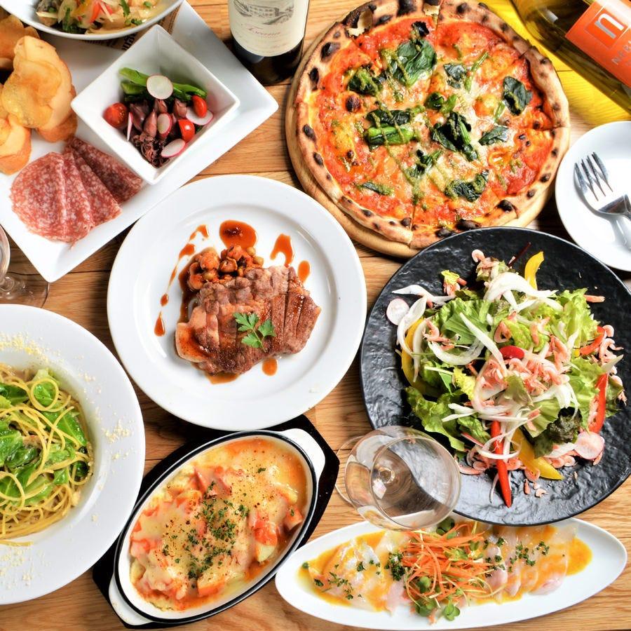 【宴会・貸切・二次会】肉・魚など旬の素材を乗り込んだパーティーコース全10品4,000円