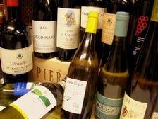 ソムリエのおすすめワインが愉しめる