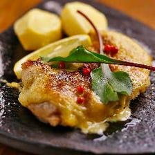 淡路鶏の柚子胡椒マヨ焼き