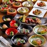 多くの絶品料理を少しずつ堪能!コース料理3,200円~【税込】
