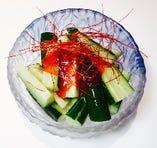 たたききゅうり梅肉  480円