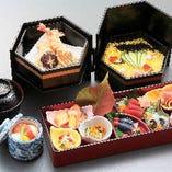 【仕出し】松花堂「彩月~さいげつ~」ご慶弔時だけでなく、略式の会席料理としてお慶びいただける料理です。