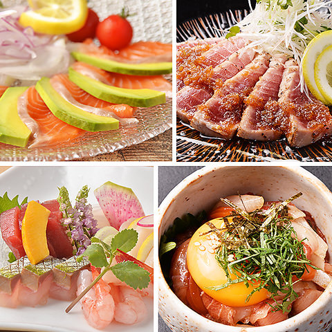 彩り豊かな逸品料理…鶏・海鮮が自慢