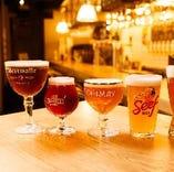 高品質!直送のベルギー、ドイツ、国産クラフトビールは圧巻の8タップ!