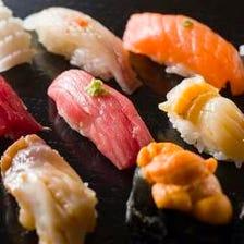 <旬のお鮨・鮮魚お造りなどが付いた> 全8品120分飲み放題付宴会コース