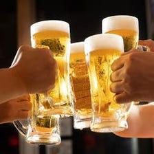 充実したアルコールメニュー