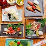 飲み会には宴会コースがおすすめ♪焼物や天ぷらに〆はお寿司