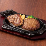 サーロインステーキ150g&ハンバーグ(サラダバー付)