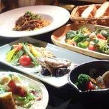 季節の食材をふんだんに使用。お肉や魚はもちろん旬野菜も楽しめます