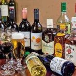 飲み放題付コースは、+500円(税抜)にて赤ワイン3種・白ワイン3種など10種類以上追加の『プレミアム飲み放題』に変更可能です