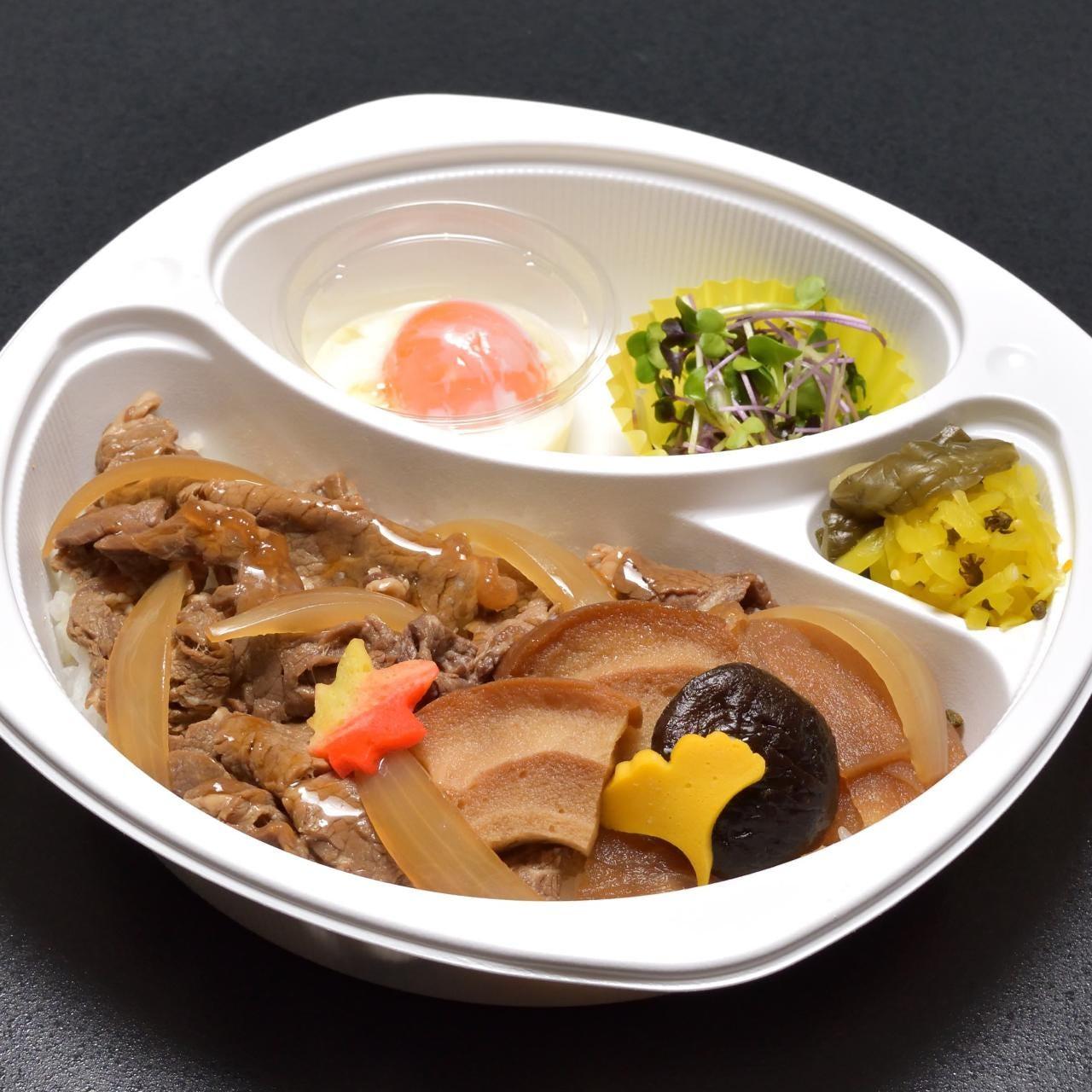 【テイクアウト】温玉付きの牛すき焼き丼 1,080円