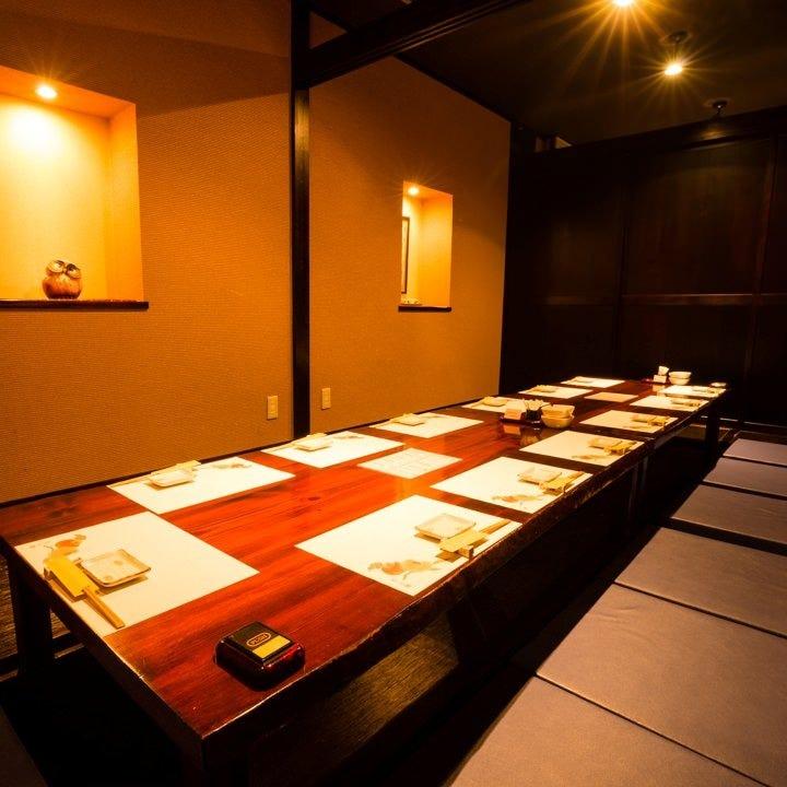 ご宴会にも最適な個室も大小ご用意しています。