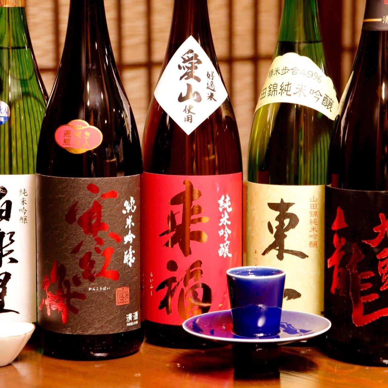 九州各地で作られたお酒を多数ご用意