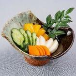 九州野菜の浅漬け盛り合わせ