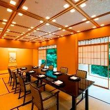 京の風情を感じさせる個室席