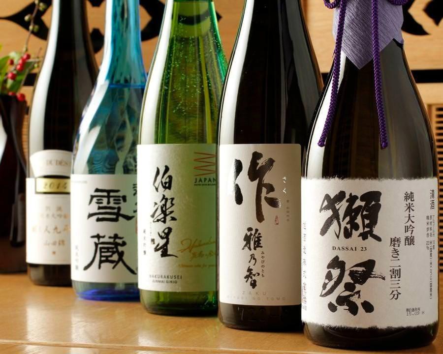 こだわりの日本酒を逸品と共に…