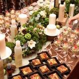 ゲスト間のコミュニケ―ションが 広がる立食スタイル