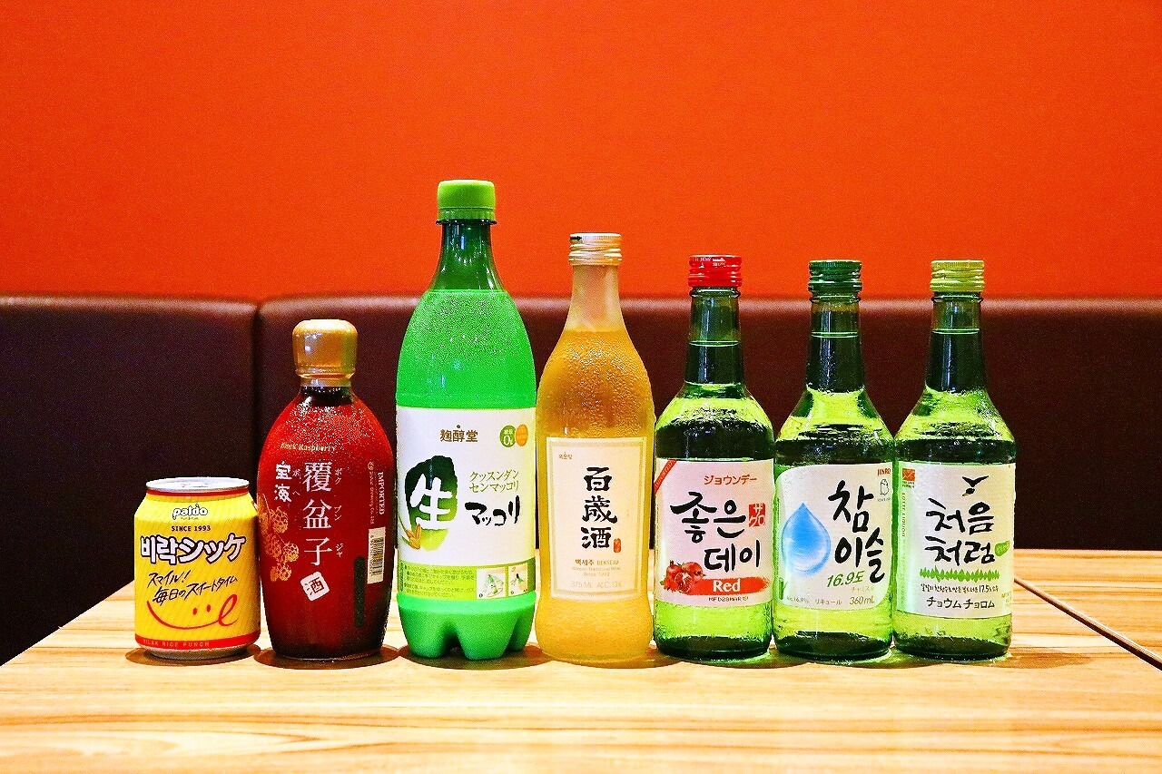 韓国のお酒やジュースをラインナップ