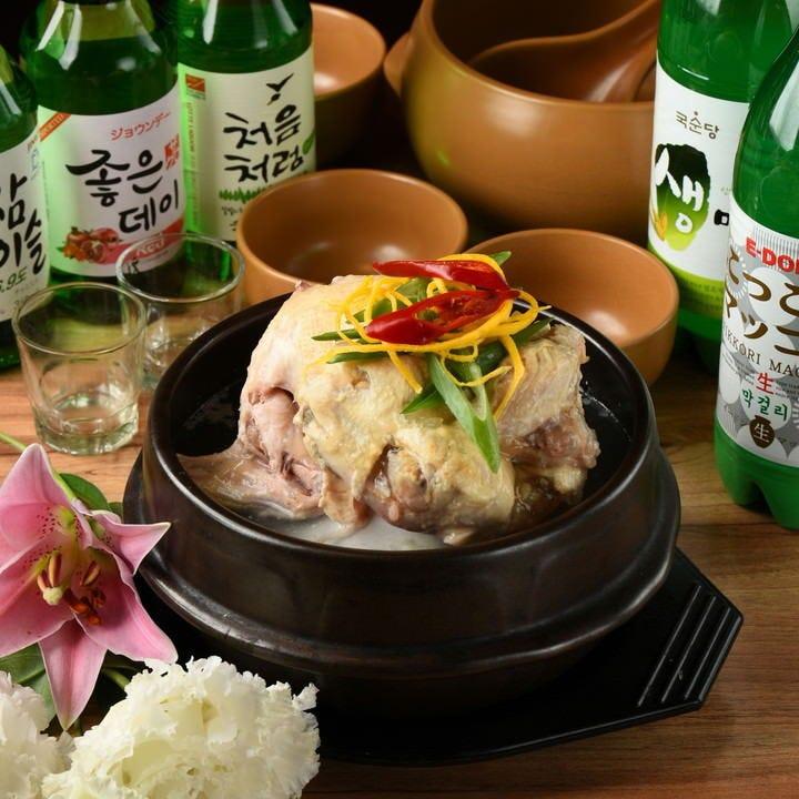 【熱々サンゲタンを召し上がれ★】蒸し豚やタコ炒めなどの韓国料理を含んだスタミナコース 4,500円(税抜)