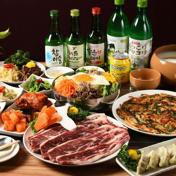 韓国焼肉を上質な厳選肉で堪能◎