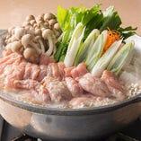 ■鶏のせせりと自家製つくねのちり鍋