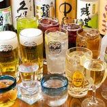 プラス500円で、生ビールや厳選焼酎も飲み放題のプレミアム飲み放題にグレードアップ!