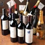 芳醇なワイン・種類豊富なドリンク