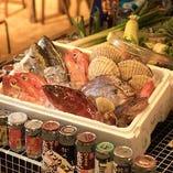 近海で獲れた新鮮な魚介類を毎日仕入れ!