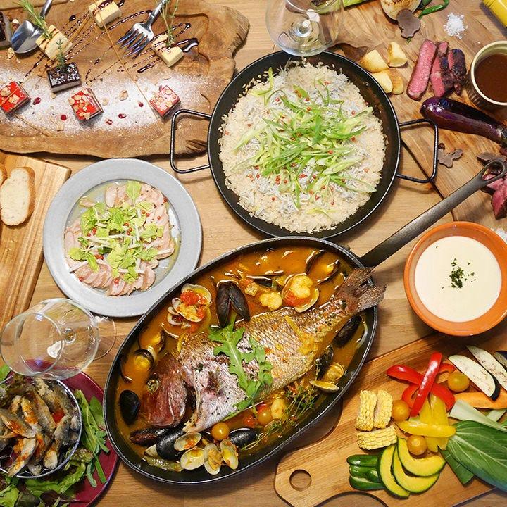 厳選食材を使用したワイガヤのパーティーコースが4種類!
